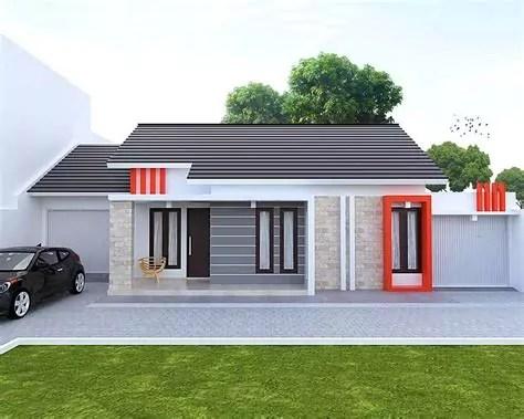 gambar bentuk rumah minimalis modern mewah tampak depan