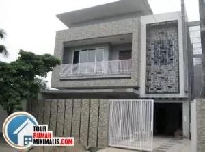 contoh desain pagar rumah minimalis batu alam