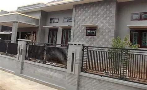 desain pagar rumah minimalis batu alam
