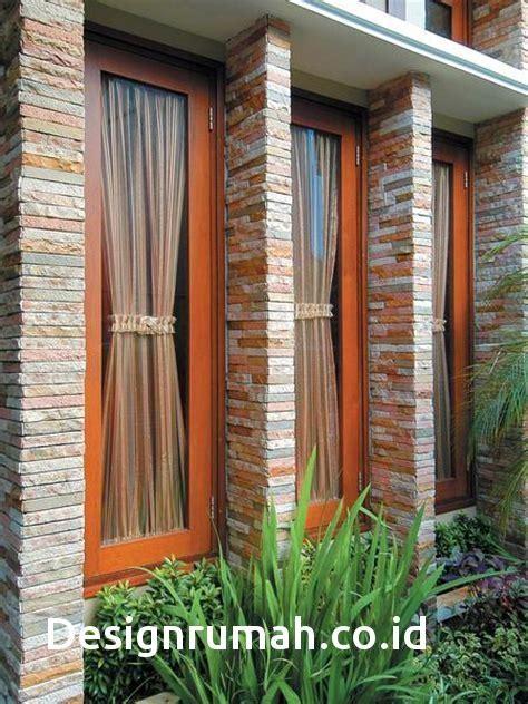 pagar minimalis batu alam model rumah