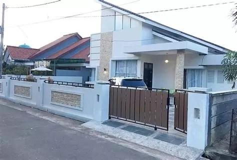 model pagar rumah minimalis batu alam