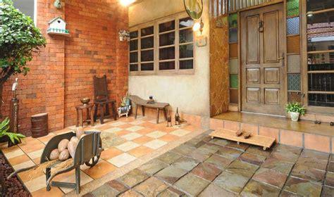 material lantai teras bahan keramik kayu batu