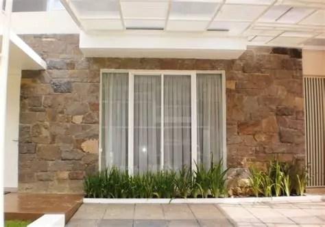 desain rumah dot rumah minimalis tampak depan batu alam