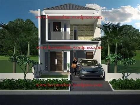 penggunaan batu alam ornamen tampak depan rumah