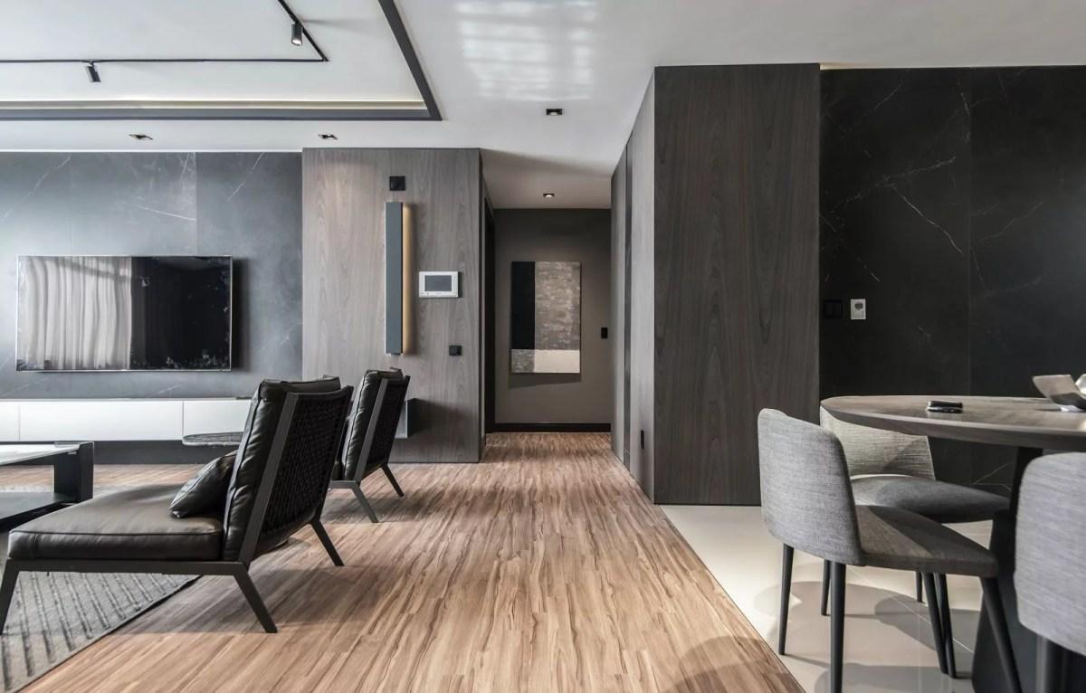 desain rumah modern batu alam