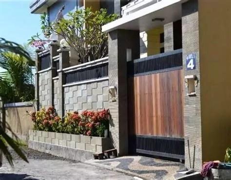 inspirasi desain pintu pagar rumah minimalis