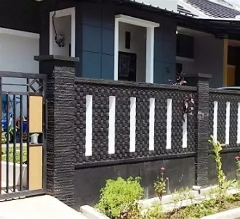 ide desain pagar rumah minimalis