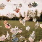 Cascade of flowers as Instagram wall