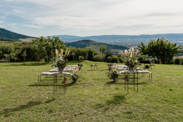 ceremony on the umbria hills overlooking Assisi