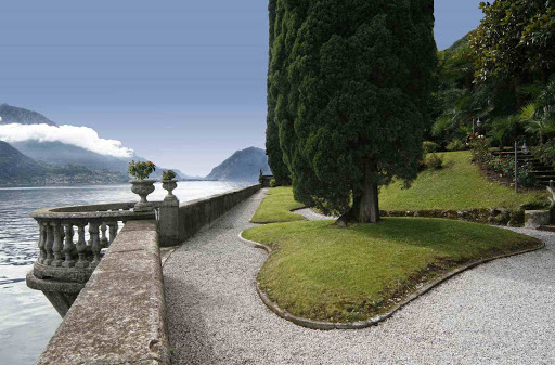 The terrace of the Villa overlooking Como Lake
