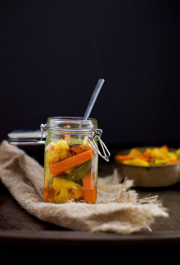 Pickled Winter Vegetables, via Sinfully Spicy