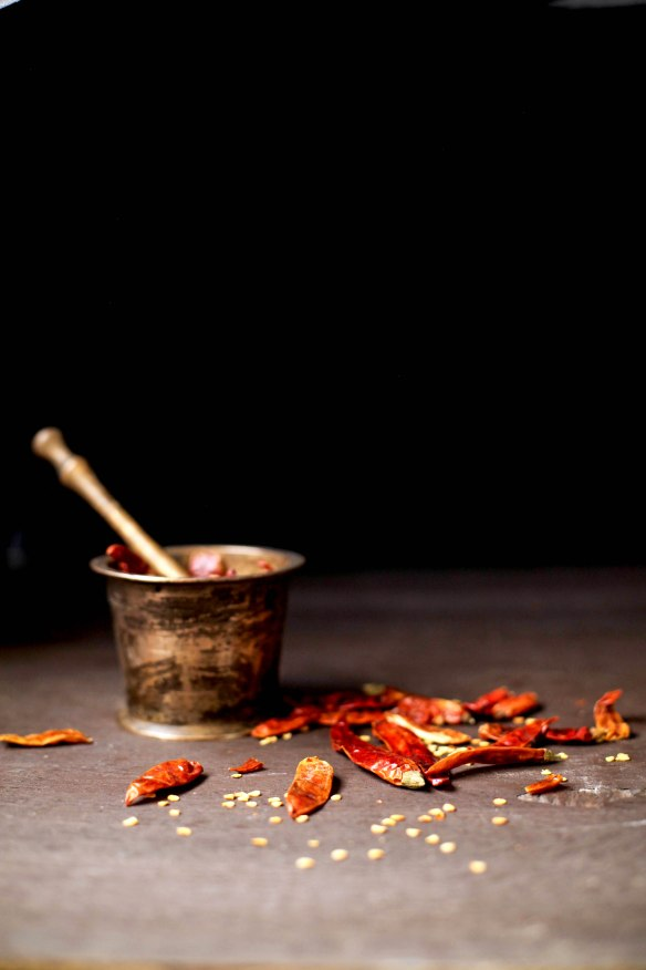 SinfullySpicy - Laal Maas, Rajasthani Red Mutton Curry003, hot chili