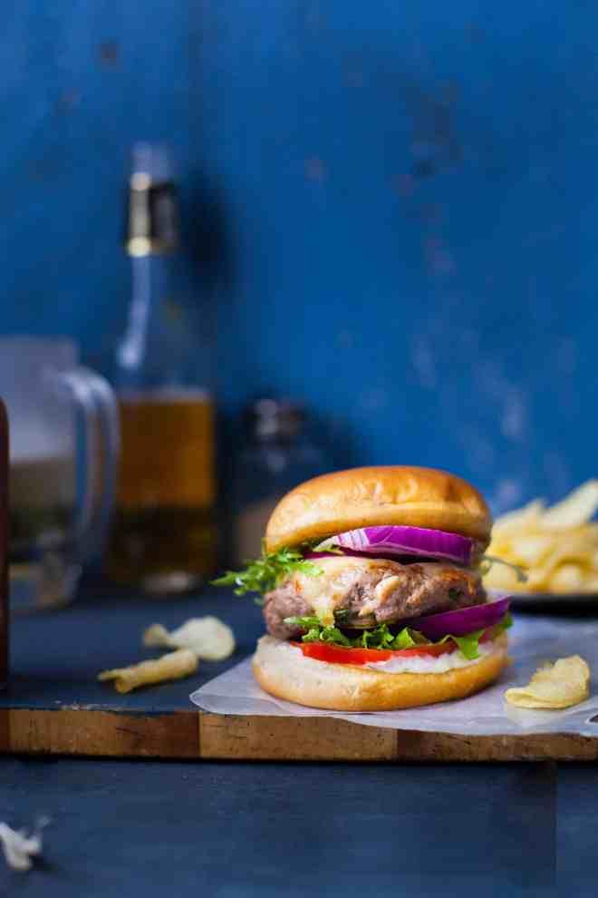 Sinfully Spicy - Spiced Lamb Burgers With Garlic Mint Yogurt Mayo