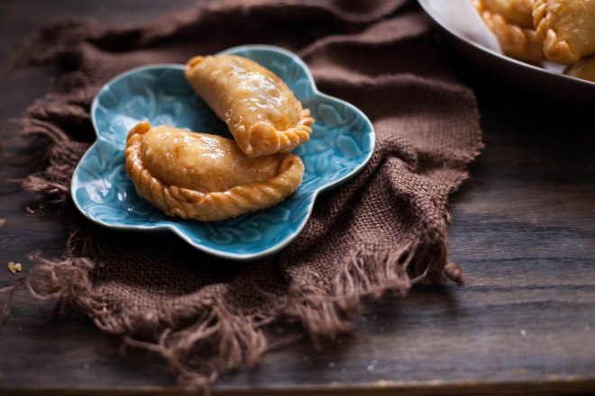 Sinfully Spicy :Mava Gujiya, Pastry With sweet nuts & coconut filling