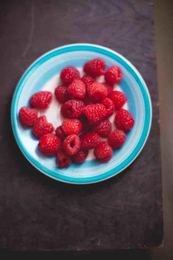 Sinfully Spicy :Layered Mango & Raspberry Dessert