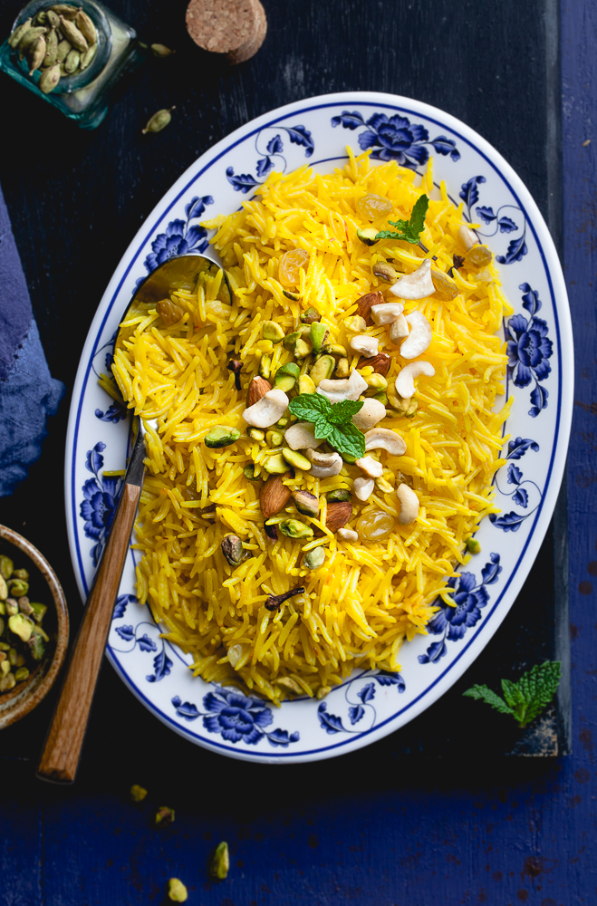 Sinfully Spicy : Zarda /Meethe Chawal , Sweet Saffron Rice