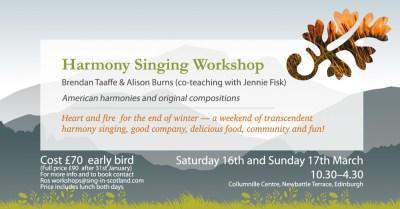 Harmony workshop flier