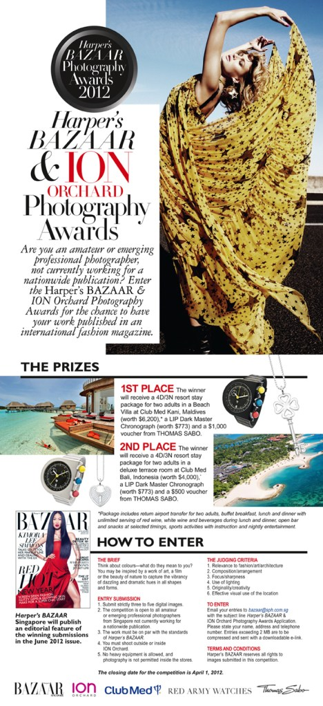 Harper's Bazaar & ION Orchard Photography Awards details