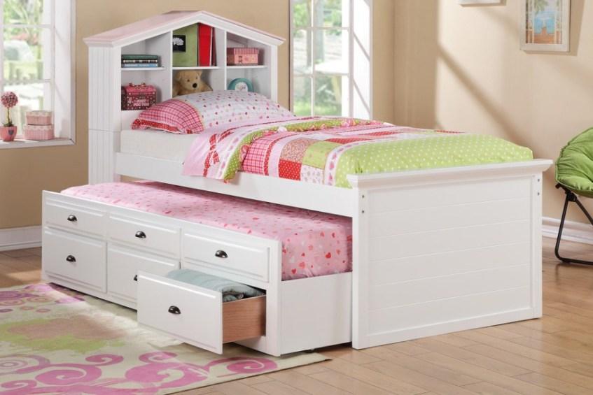 bright little girls room interior white