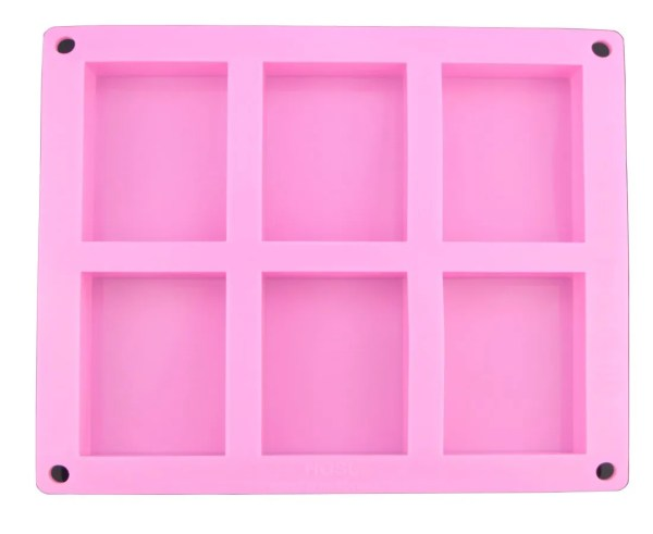 6 Rectangle Cavity Silicone Mold