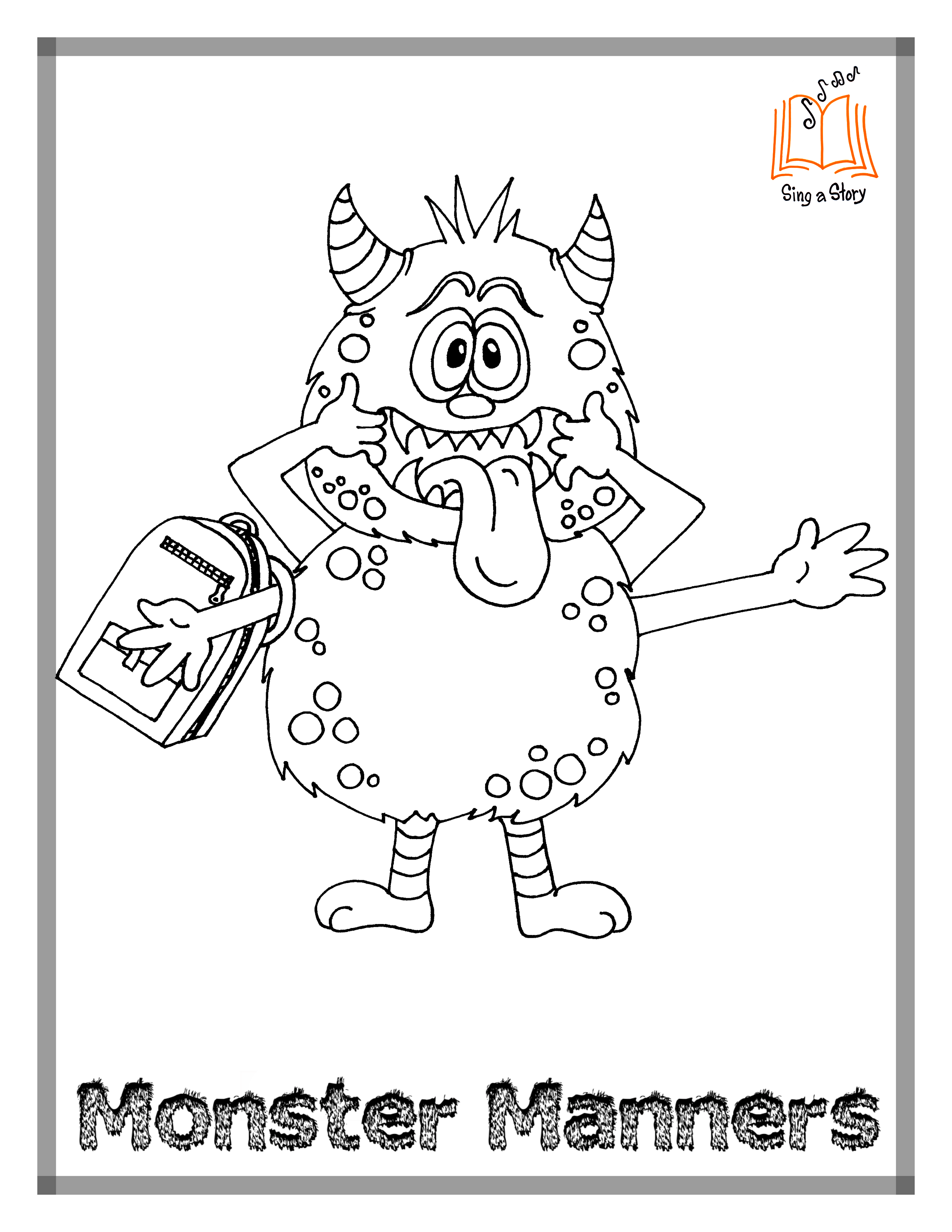 Monster Manners Coloring Pages