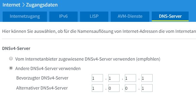 fritzbox dns cloudflare