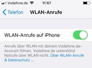 WLAN Anrufe aktivieren iPhone