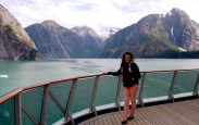 Out on deck in Tracy Arm Fjord, Alaska