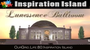 6pm PT Tamra Hayden on Inspiration Island @ Lunessence Ballroom on Inspiration Island / Hypergrid