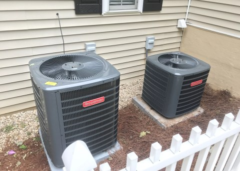 A couple of Goodman air conditioners that we installed for  Telico Village customer.