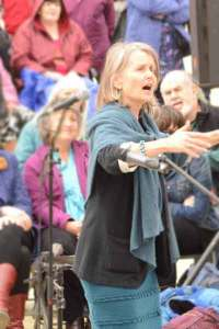 Pauline Down conducting