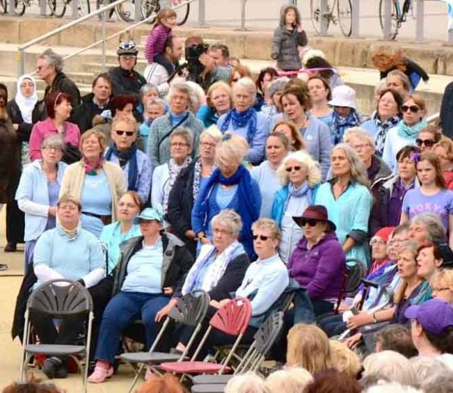 Sing for Waer Cardiff 2015 Sopranos in Sky Blue