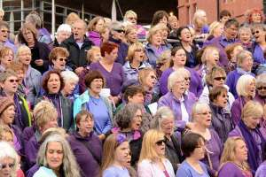 Sing for Water Cardiff 2015 - Altos in Purple