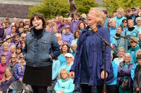 Sing for Water Cardiff 2015 - Performance - Lynne Denman and Stacey Blythe of Ffynnon