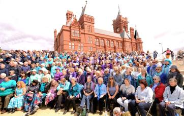 Sing for Water Cardiff 2015 - Performance - Massed Choir left hand side