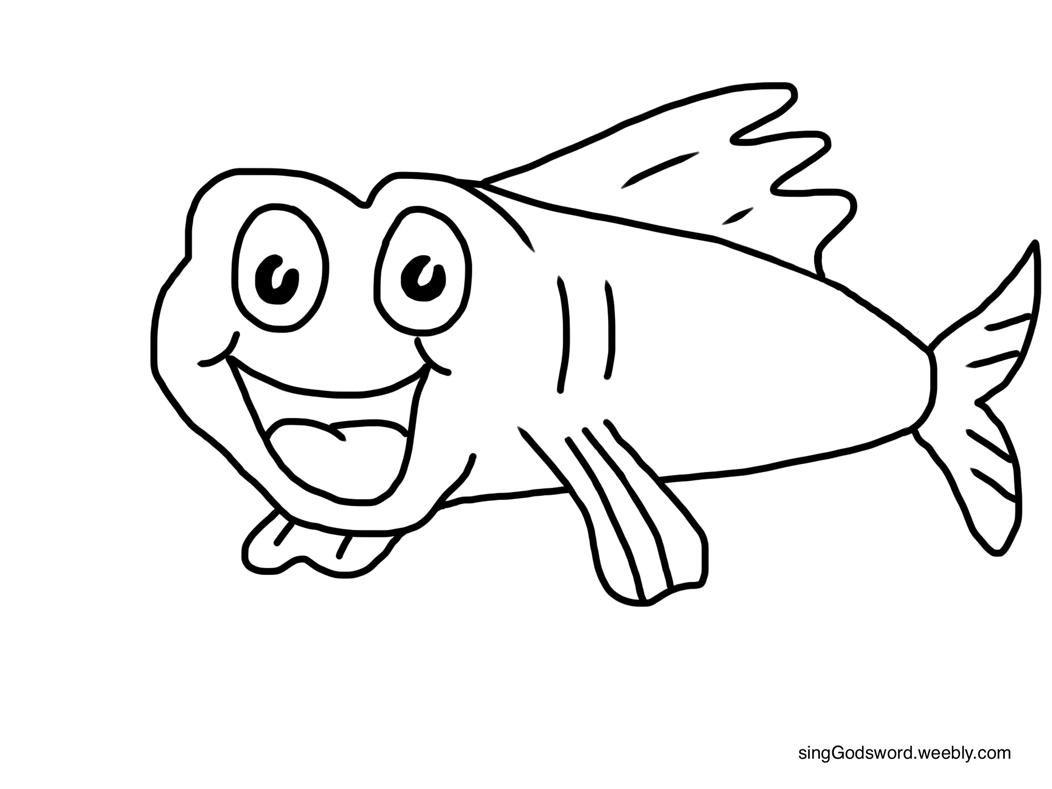 A Fish Coin In Its Mouth With A Sheet Coloring Pages