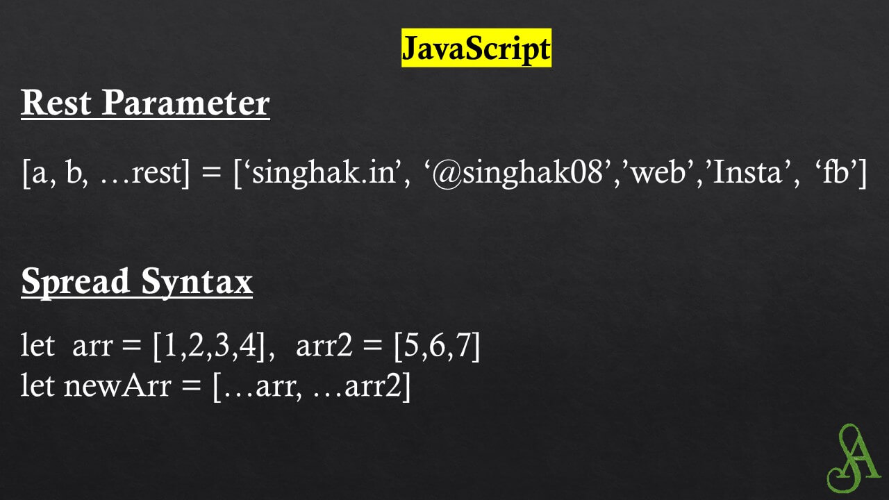 Rest Parameter and Spread syntax and their use-case