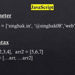 Rest Parameter and Spread Syntax