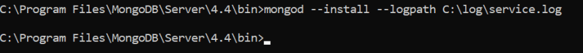 Install mongo Db window serivce
