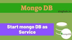 How to start & stop a mongo DB server from the command line
