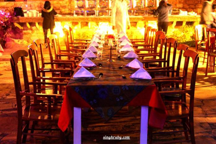 Dinner table at Dadhikar Fort