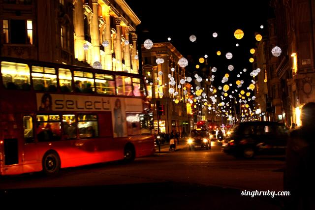 Glittery streets of London