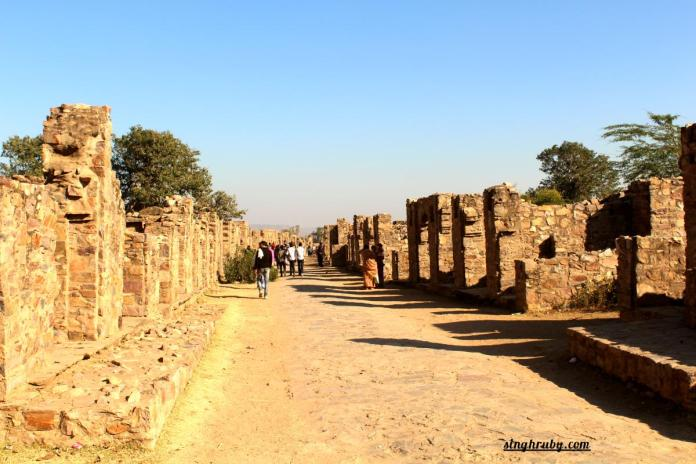 Walking in Bhangarh Fort
