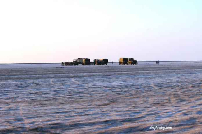 BSF Guarding the border at Rann of Kutch
