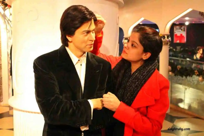 Me and dearie Shahrukh Khan at Madam Tussauds London