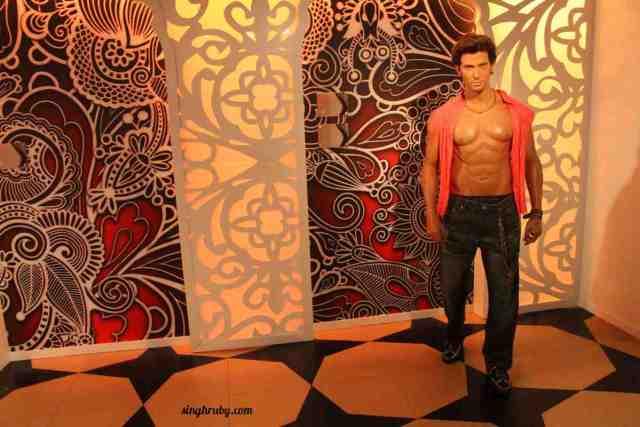 The Dhoom guy Hritik Roshan at Madam Tussauds London