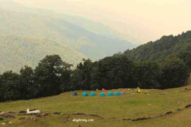 Camps at Nagtibba Base