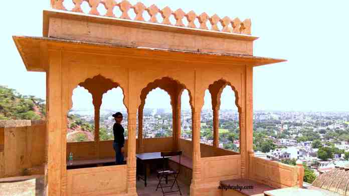 View from the top, at Neemrana Fort Palace