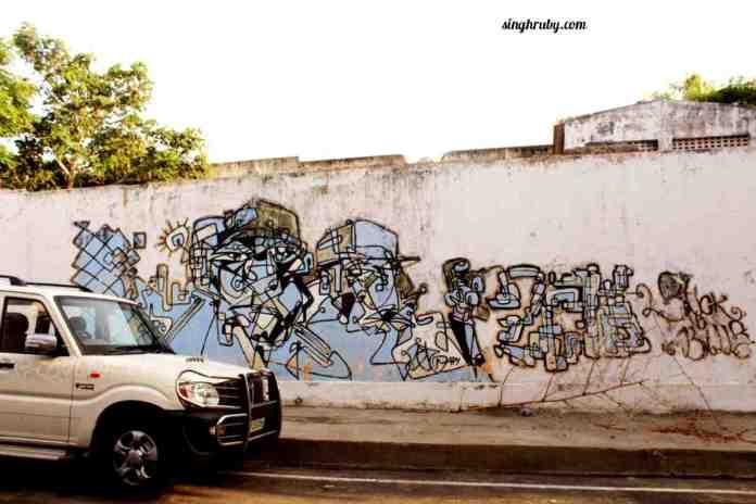 Pondicherry has many interesting Graffiti