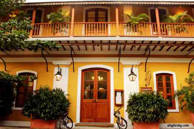 The typical French windows in Pondicherry